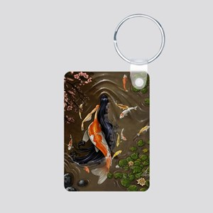 Koi Mermaid Aluminum Photo Keychain