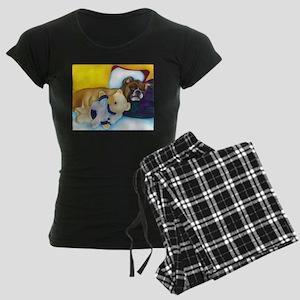 Boxer and Teddy Women's Dark Pajamas