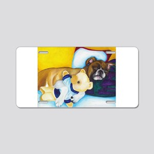 Boxer and Teddy Aluminum License Plate
