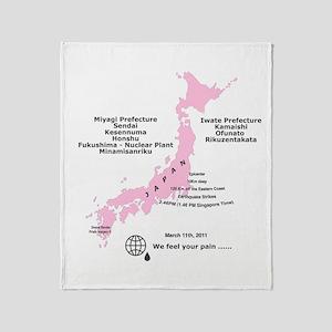 Japan 3/11/2011 Throw Blanket