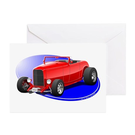 Classic Hot Rod Greeting Cards (Pk of 20)