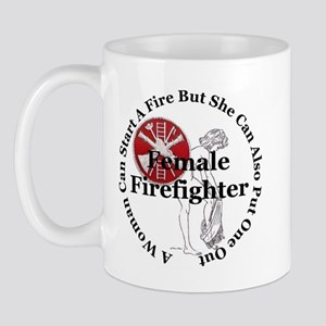 Firefighting Female Mug