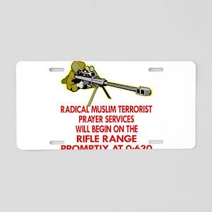 Terrorist Prayer Services Aluminum License Plate