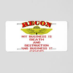 RECON Death & Destruction Aluminum License Plate