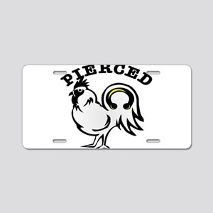 Pierced Cock (Rooster) Aluminum License Plate
