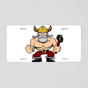 Mad Viking Berserker Aluminum License Plate