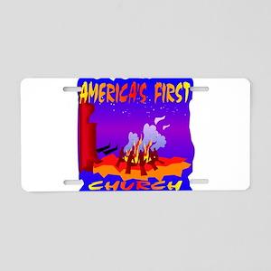 America's First Church Aluminum License Plate