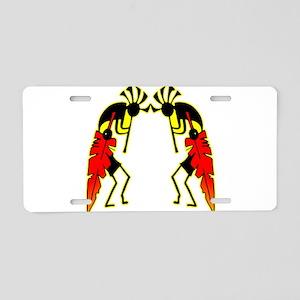 Twin Kokopeli Aluminum License Plate