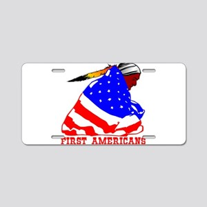 First Americans Aluminum License Plate