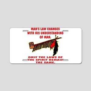 Man's Law or Spirit Law Aluminum License Plate