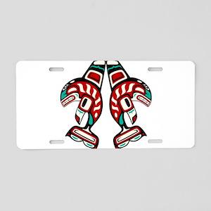 Haida Indian Killer Whale Aluminum License Plate