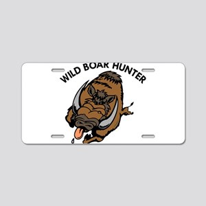 Wild Boar Hunter Aluminum License Plate
