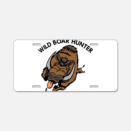 Wild Boar Hunter Aluminum License Plate