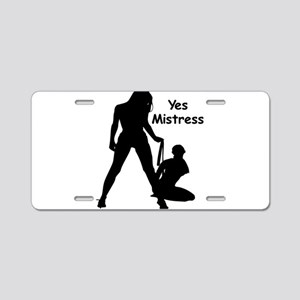 Yes Mistress #0022 Aluminum License Plate