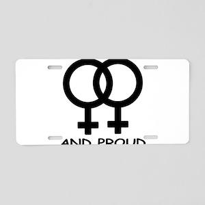 Fem & Fem & Proud Aluminum License Plate