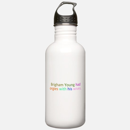 Brigham Young Orgy Water Bottle