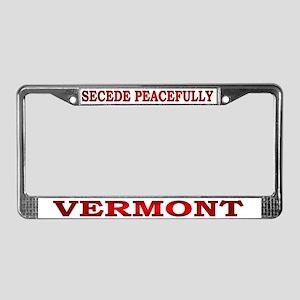 Vermont-3 License Plate Frame