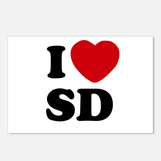 I Love San Diego Postcards (Package of 8)