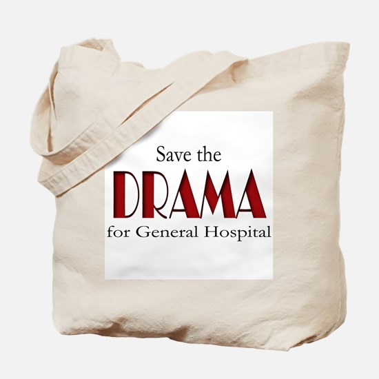 Drama on General Hospital Tote Bag