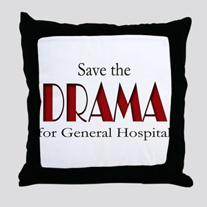 Drama on General Hospital Throw Pillow