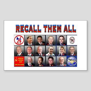 RUNAWAY DEMOCRATS Sticker (Rectangle)