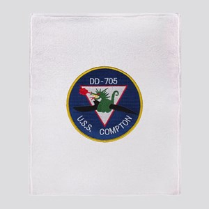 USS COMPTON Throw Blanket