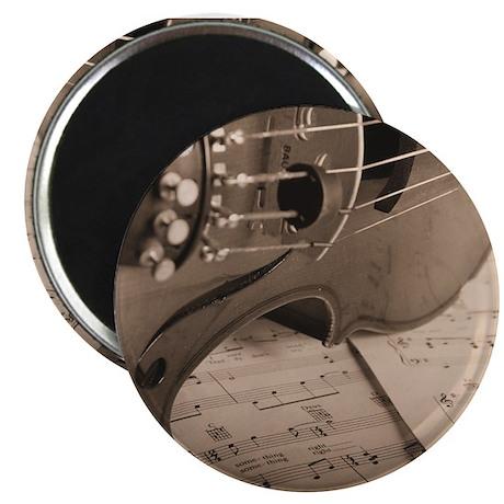"Violin Sepia 2.25"" Magnet (10 pack)"