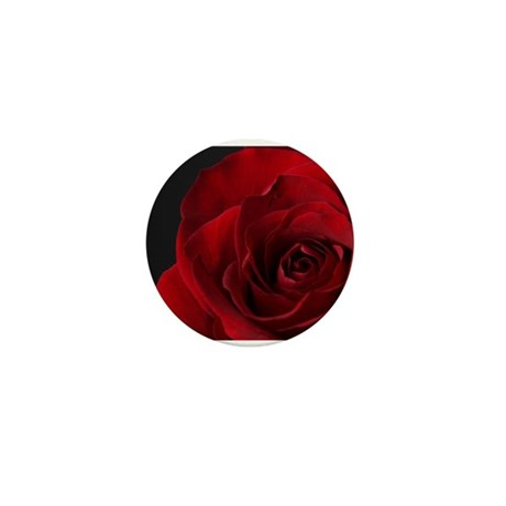 Red Rose R Mini Button