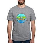 """Men's Tri-Blend T-Shirt """"River Rat"""""""