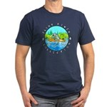 """Men's Fitted T-Shirt """"River Rat"""""""