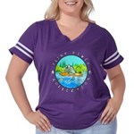 River Rat Women's Plus Size Football T-Shirt
