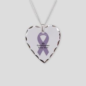 Granddaughter CF Hero Necklace Heart Charm