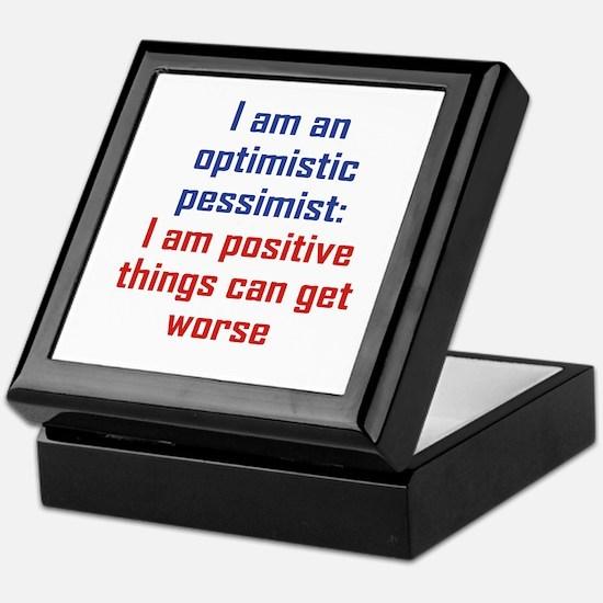 Optimistic Pessimist Keepsake Box