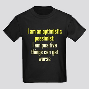 Optimistic Pessimist Kids Dark T-Shirt