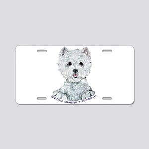 Lovable Westie Aluminum License Plate