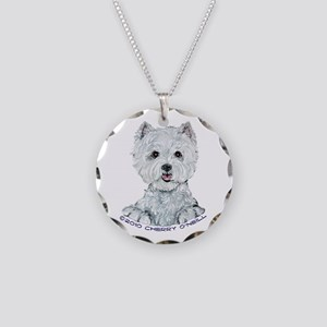 Lovable Westie Necklace Circle Charm