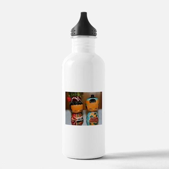 Kokeshi Dolls Water Bottle