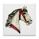 Dapple Grey Carousel Horse Tile Coaster