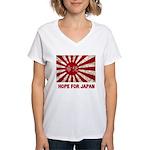 Japanese Flag Women's V-Neck T-Shirt