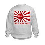 Help Hope Love Kids Sweatshirt