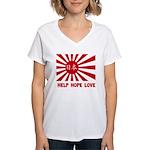 Help Hope Love Women's V-Neck T-Shirt