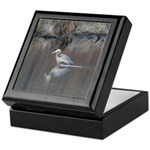 Great Blue Heron Wading Keepsake Box