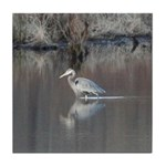 Great Blue Heron Wading Tile Coaster