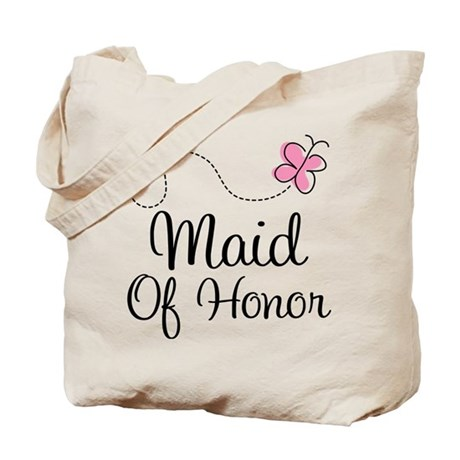 Maid Of Honor Butterfly Tote Bag