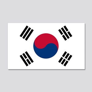 Korean Flag 20x12 Wall Decal