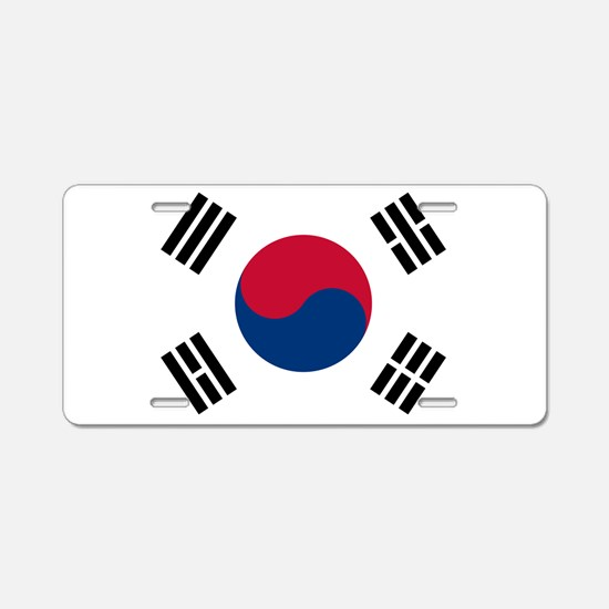 Korean Flag Aluminum License Plate