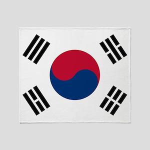 Korean Flag Throw Blanket