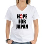 Hope for Japan 2011 Women's V-Neck T-Shirt