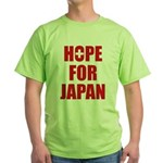 Hope for Japan 2011 Green T-Shirt