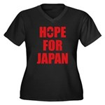 Hope for Japan 2011 Women's Plus Size V-Neck Dark